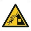 Kansainvälinen varoitusmerkki katolta putoavasta lumesta
